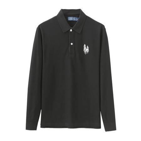 Royal Palm Polo Sports Club男士秋季T恤翻领长袖POLO衫13924193