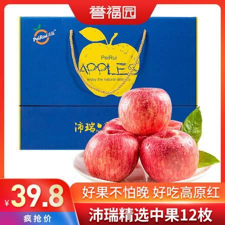 誉福园 好果不怕晚 沛瑞红富士5斤礼盒装新鲜苹果洛川苹果水果红富士应季水果