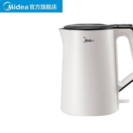 美的(Midea)电热烧水壶家用304不锈钢全自动断电水瓶HJ1522    1.5L大容量图片