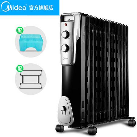 美的(Midea)电热油汀 取暖器家用节能省电 电暖器暖风机NY2513-16J1W 黑色