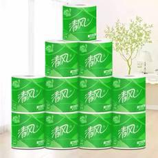 清风原木3层245段卷筒卫生纸20卷卷纸