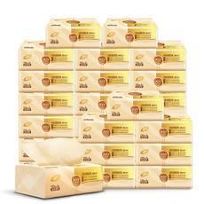 清风 原色3层130抽24包原色抽纸 整箱