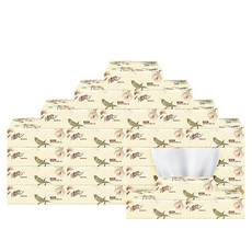清风  清风原木花鸟3层100抽12包取式面巾纸 抽纸 软抽