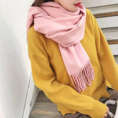 长款仿羊绒围巾韩版毛线女秋冬季加厚纯色两用空调披肩百搭男保暖
