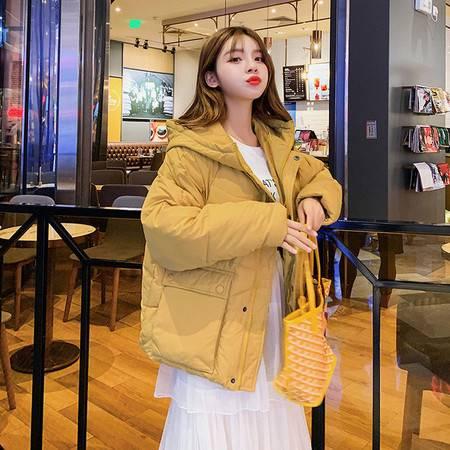 棉衣女2019冬新款短款羽绒棉服女学生棉袄韩版宽松面包服加厚外套