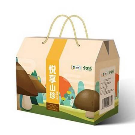 安荟堂 悦享山珍礼盒425g  菌菇南北干货 员工福利  春节年货礼盒