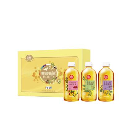 时怡  枣花蜜荆条蜜枸杞蜜组合套装 蜜润蜂蜜礼盒1362g