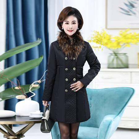 雪暖品牌秋冬新款轻薄羽绒服女中长款修身显瘦收腰外套潮xn006