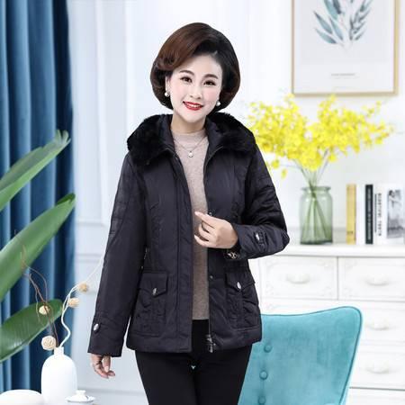 雪暖 品牌秋冬新款妈妈装中老年羽绒服女短款大码加肥加大xn2192
