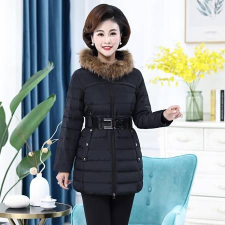 雪暖 品牌秋冬新款羽绒服女中长款韩国学生修身显瘦收腰百搭外套2336