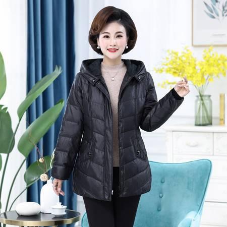 雪暖 秋冬新款羽绒服女中长款韩国修身显瘦收腰外套xn2392