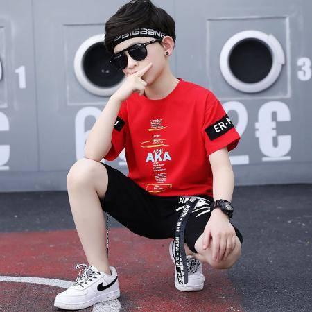 童装男童套装夏装2020新款儿童短袖运动夏季洋帅气韩版潮男孩衣服