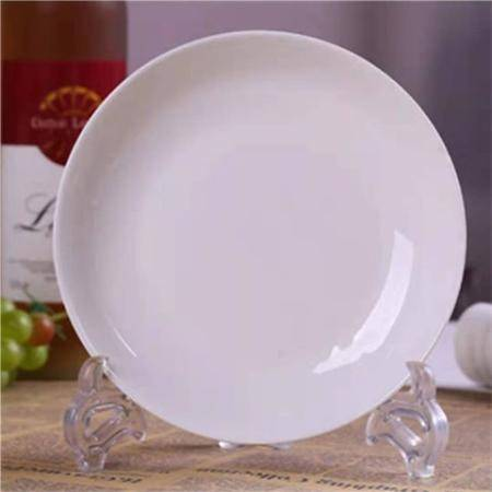 【48小时内发货】10个菜盘景德镇陶瓷如意盘家用骨瓷菜盘圆盘深盘方盘菜碟组合