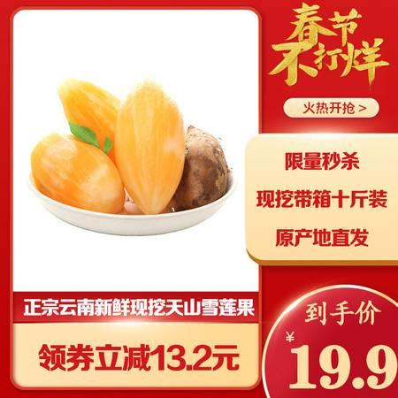 【秒杀立减13.2元】云南天山红泥雪莲果9斤新鲜应季水果包邮