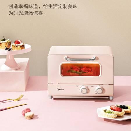 美的 12升复古电烤箱PT12A0家用多功能小型烘焙烤鸡翅蛋糕挞