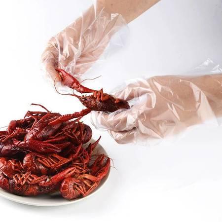 【48小时内发货】【急速发货500只】一次性手套薄膜加厚加长批发龙虾餐饮美发透明厨房家用防水食品级