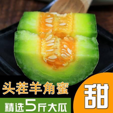 【48小时内发货】【浓香脆甜】羊角蜜甜瓜现摘现发新鲜水果 应季水果羊角蜜瓜博洋甜瓜孕妇水果3/5斤