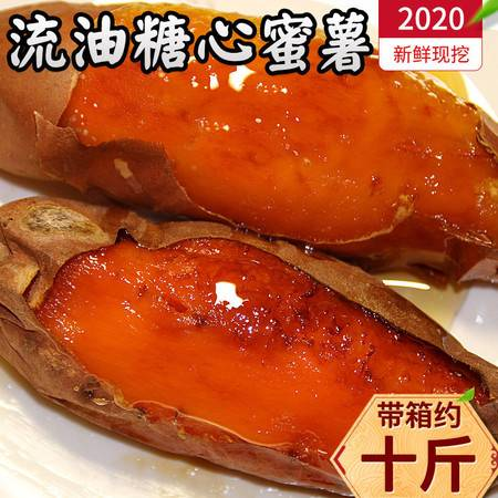 【烟薯25号】沙地红薯红心蜜薯超甜糖心稀瓤流油烟薯25号烤地瓜5/10斤
