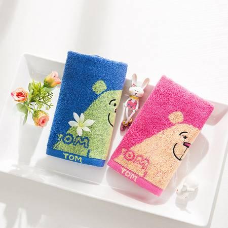 洁丽雅(Grace)2条装儿童毛巾纯棉小熊印花童巾8325