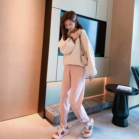 启言 糖果色日系甜美森系秋冬毛衣女宽松打底外穿韩版针织上衣