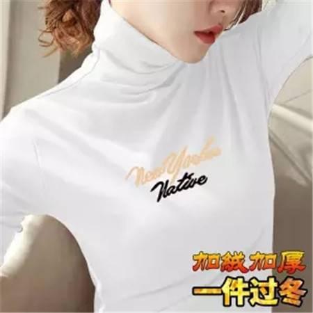 【加绒/不加绒】高领打底衫女长袖秋冬女装保暖修身显瘦t恤女上衣