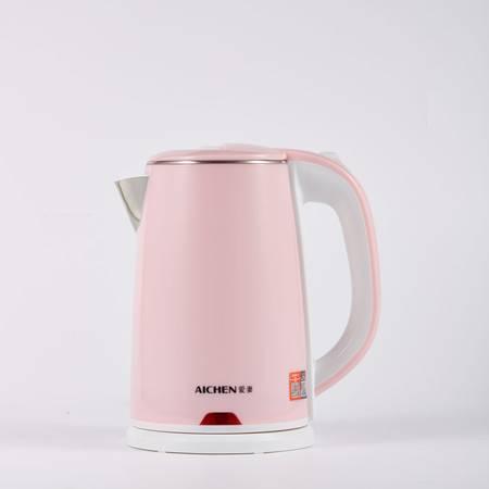 爱妻/AICHEN AQ1809粉色电热水壶1.8L