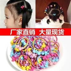 50条混装日韩儿童扎头发米奇糖果彩色皮筋皮套发圈头绳发饰宝宝发绳