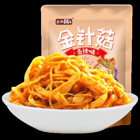 盐津铺子 金针菇200g即食金针菇香辣金针菇下饭菜辣佐酒零食