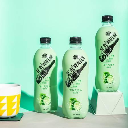 青可儿 膳食纤维苏打气泡水 青瓜味480ml*12瓶  整箱多口味零糖零脂含气苏打水