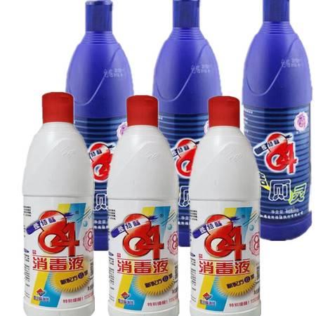 【6瓶装】爱特福消毒液468ml *3瓶+洁厕灵468ml*3瓶