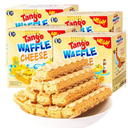 印尼进口Tango威化饼干休闲零食咔咔脆威化饼干乳酪味