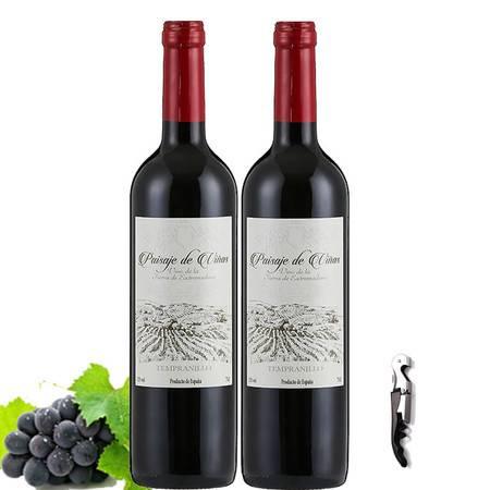 西班牙原瓶进口红酒帕加维干红葡萄酒2瓶750ml*2