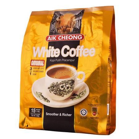 马来西亚原装进口益昌老街白咖啡原味咖啡粉速溶三合一600g*2袋装
