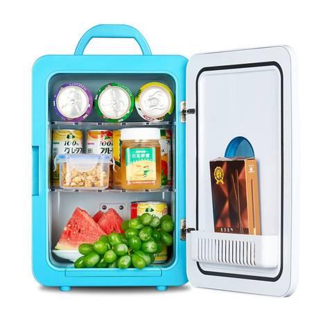 迷你冰箱小型家用小冰箱汽车用品冷暖型车载冰箱宿舍小冰箱