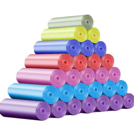 【9.9秒杀】100只垃圾袋家用手提点断式加厚彩色一次性背心大号塑料袋