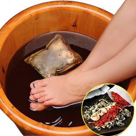 【藏红花+老姜+艾叶+益.母.草】驱寒祛湿助眠中.药泡脚药包足浴包