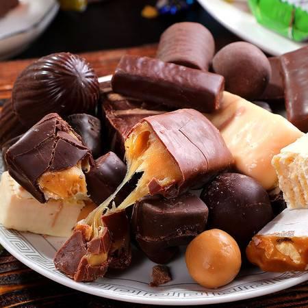 【第二件0.1元】俄罗斯进口多种混装糖果 混合巧克力糖婚庆喜糖果大礼包1斤装【绿野人家】