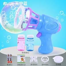 欢乐六一  抖音同款泡泡机网红神器电动风扇吹泡泡枪电动儿童户外水热卖玩具