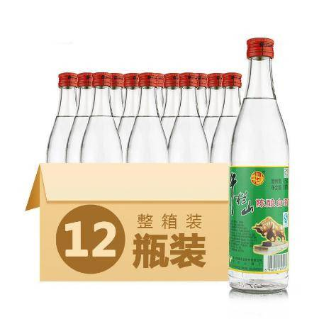【24小时发货】正宗北京牛栏山二锅头陈酿42度浓香型白牛二牛白瓶500ml整箱12瓶