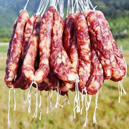 【48小时内发货】500g江西土猪肉手工腊肠腊肉咸味香肠腊肠农家土特产自制腊味特产