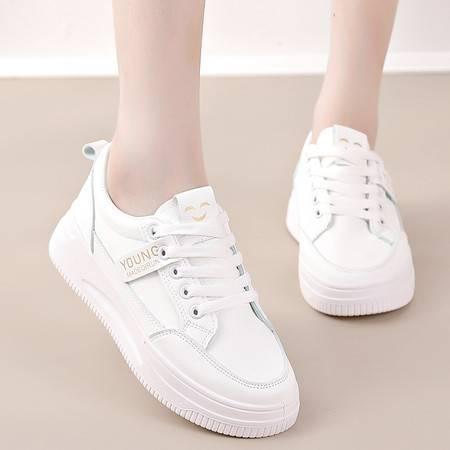 卓纪女鞋小白鞋2021新款春秋季鞋子厚底增高休闲百搭白色板鞋女运动鞋