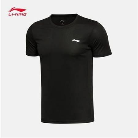 李宁/LI NING 乒乓系列男子圆领透气短袖T恤文化衫2021年夏季AHSR591