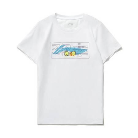 李宁/LI NING 男女小大童运动时尚系列短袖文化衫2021年夏季YHSR142