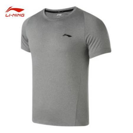李宁/LI NING 训练系列男子运动休闲透气短袖T恤2021年夏季ATSR369