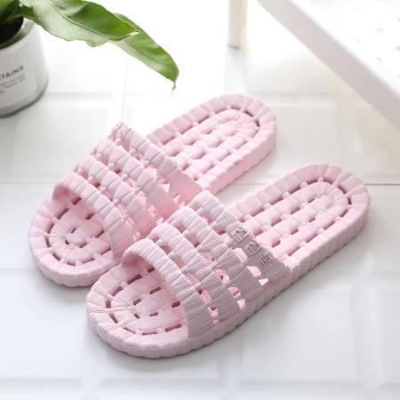 柔软舒适夏拖鞋女男家用寝室宿舍防滑浴室拖鞋简约外出软底厚底