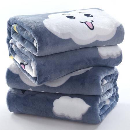 【四季毯子多尺寸速暖】空调毯子法兰绒毛毯单人双人盖毯床单
