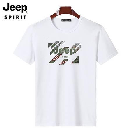JEEP SPIRIT 男士纯棉T恤透气潮流时尚半袖T恤