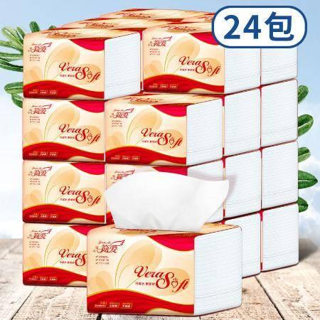 【加量408张】简爱抽纸原木家用餐巾纸面巾纸车用纸巾整箱批发