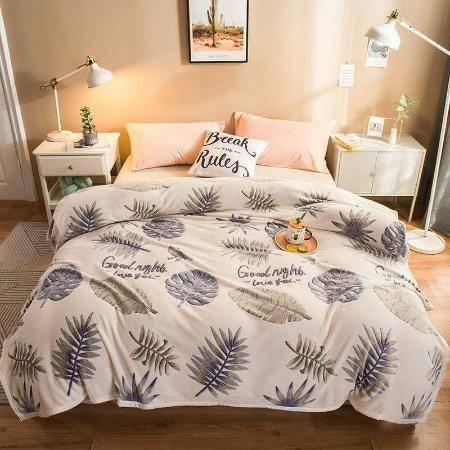 南极.人双面珊瑚绒冬加厚四季毛毯法兰绒盖毯子水晶绒床单小午睡毯