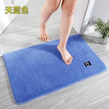家用浴室防滑垫卫生间门口吸水地垫洗澡间进门脚垫门垫定制可机洗
